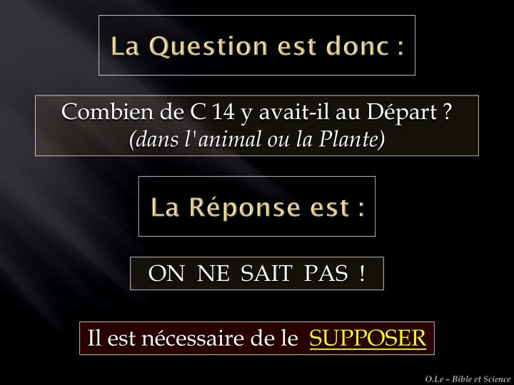La Question est donc :