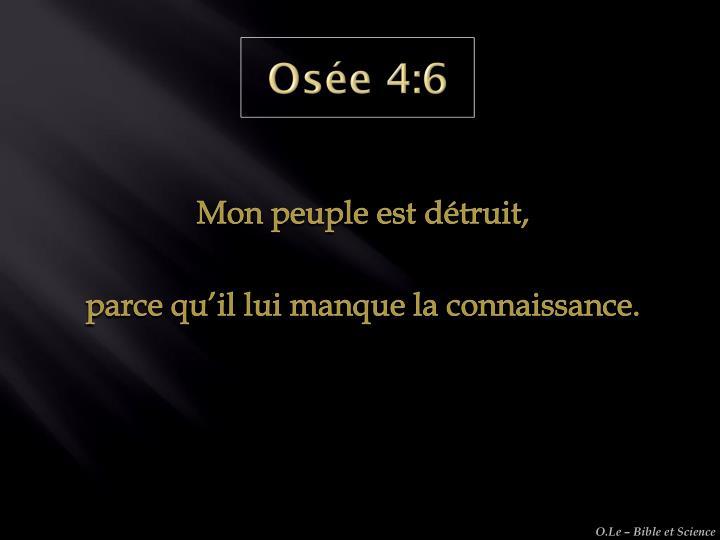 Osée 4:6