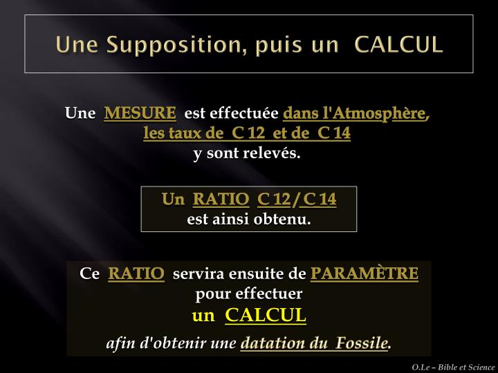 Une Supposition, puis un  CALCUL