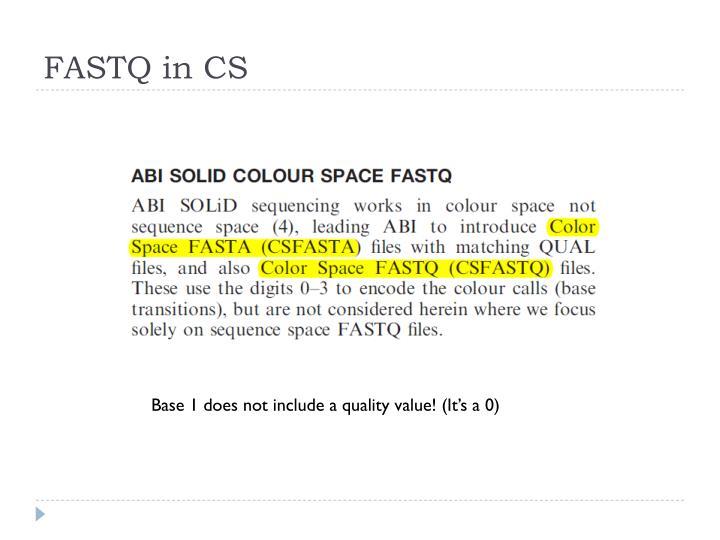 FASTQ in CS