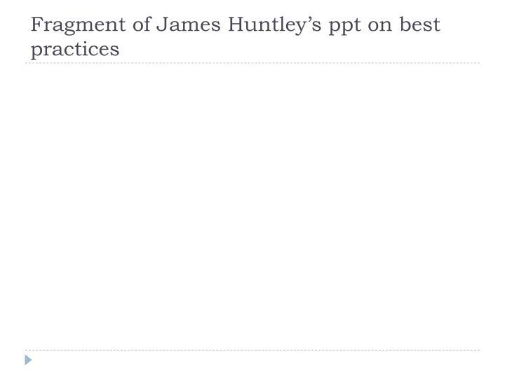 Fragment of James Huntley's
