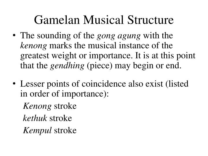 Gamelan Musical Structure