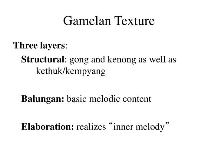 Gamelan Texture