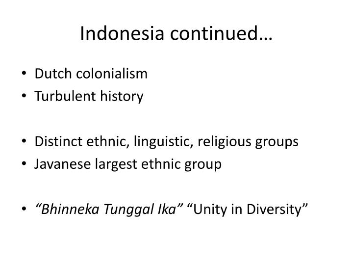 Indonesia continued…