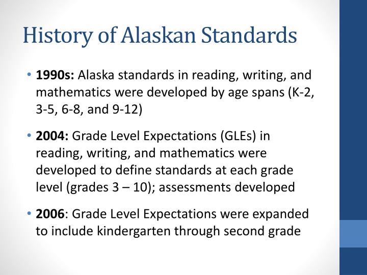 History of Alaskan Standards