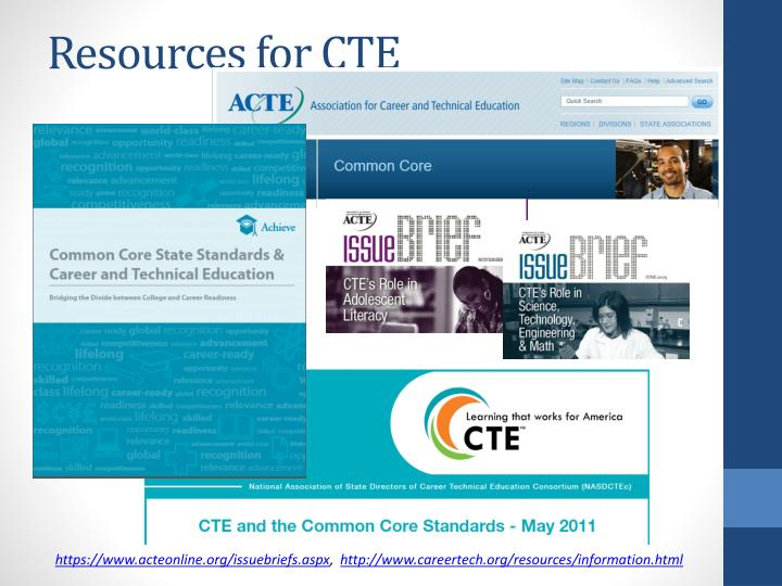 Resources for CTE