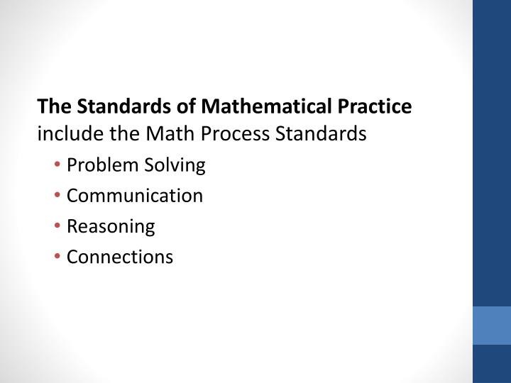 The Standards of Mathematical Practice