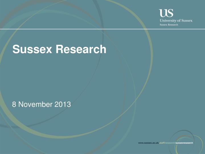 Sussex Research