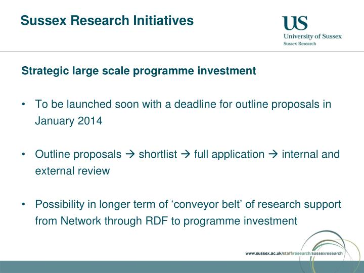 Sussex Research Initiatives