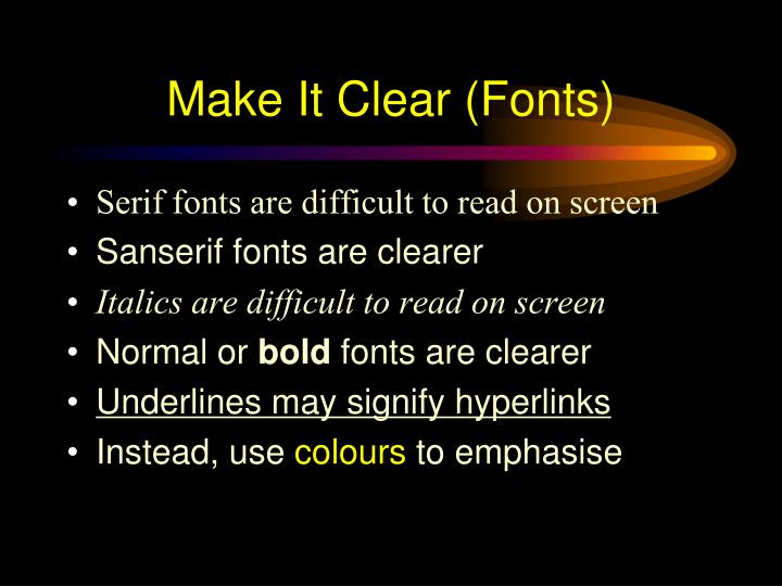 Make It Clear (Fonts)