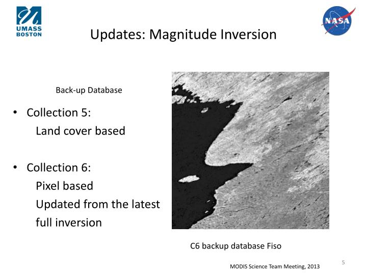 Updates: Magnitude Inversion