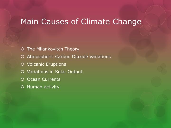 main reason behind climate change Skeptics of manmade climate change offer various natural causes to explain why   based on findings from nasa's goddard institute for space studies  what's  most important about these temperatures are the trends—the.