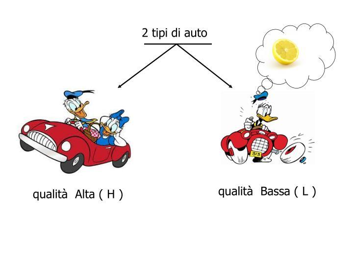 2 tipi di auto
