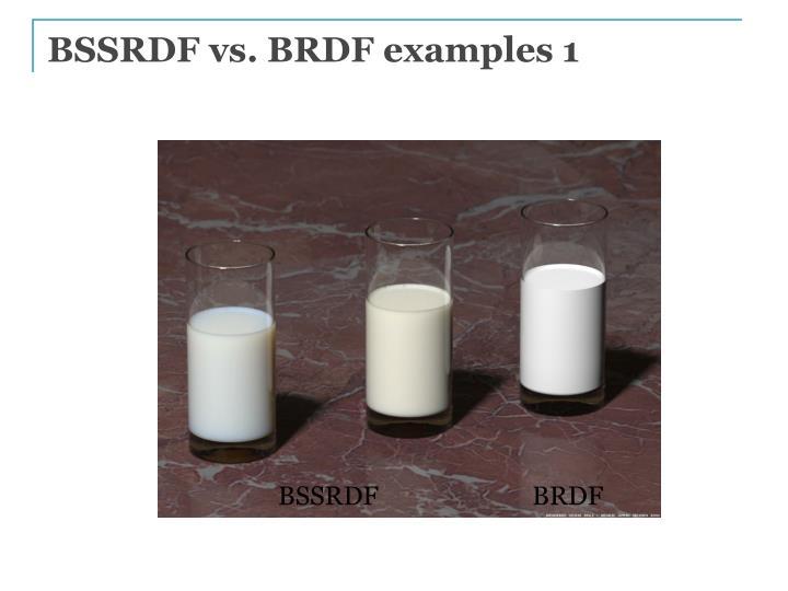 BSSRDF vs. BRDF examples 1