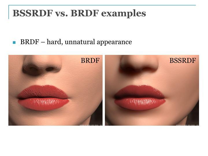 BSSRDF vs. BRDF examples