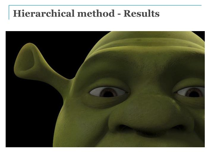 Hierarchical method - Results