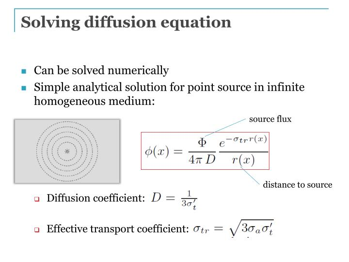 Solving diffusion equation