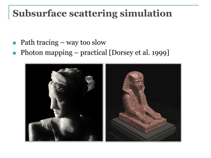 Subsurface scattering simulation