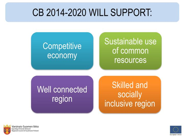 CB 2014-2020 WILL SUPPORT: