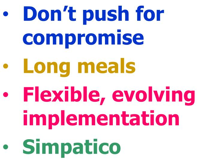 Don't push for compromise