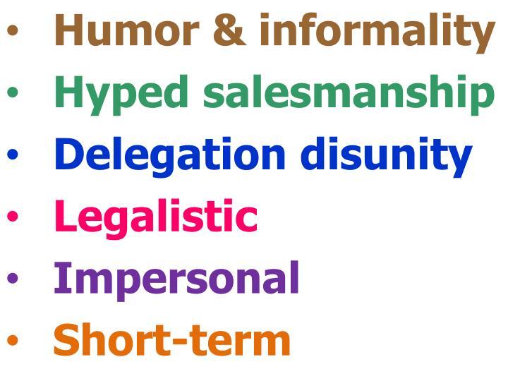 Humor & informality