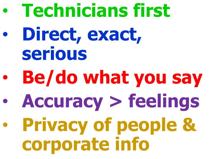 Technicians first