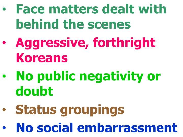 Face matters dealt with behind the scenes