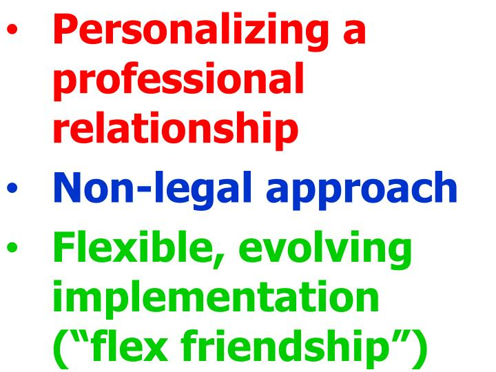 Personalizing a professional relationship