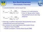 non bond interactions electrostatic potential