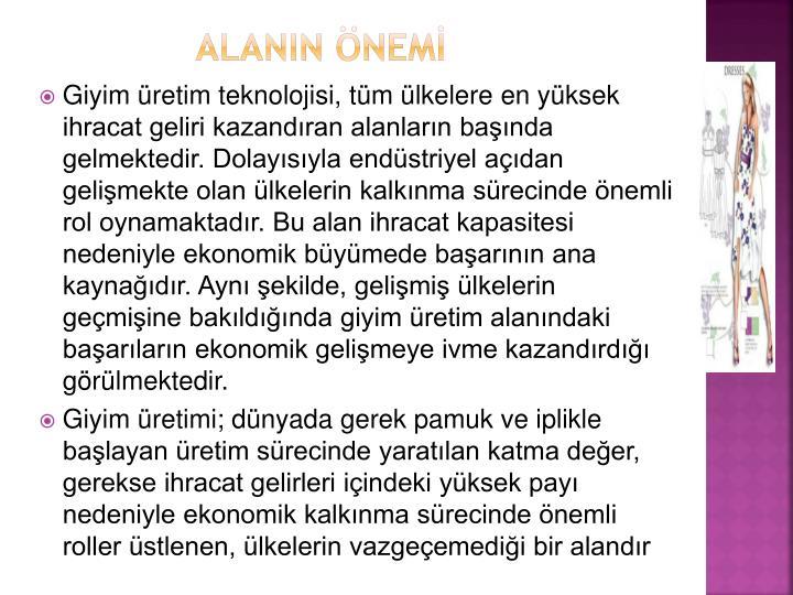 ALANIN ÖNEMİ