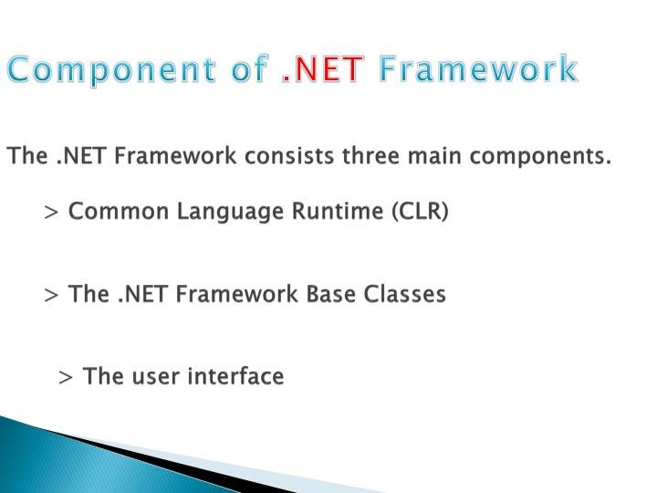 The .NET Framework consists three main components.