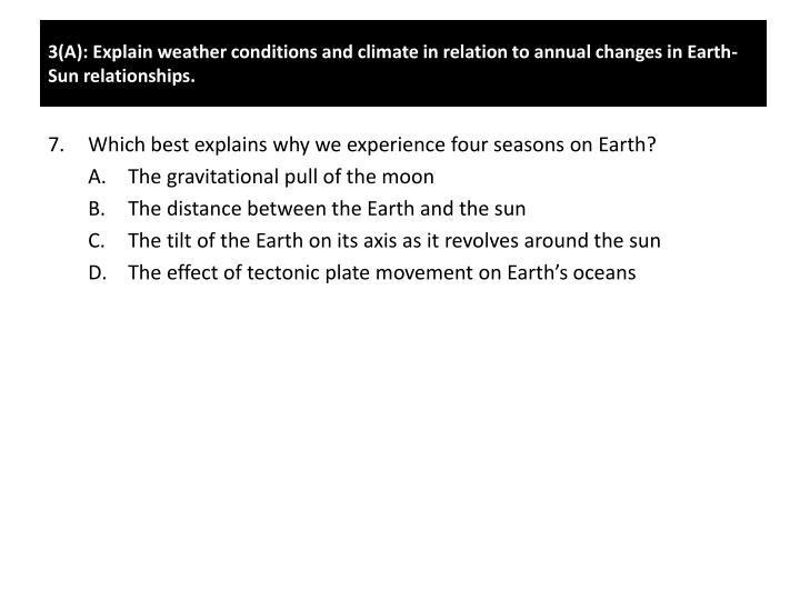 3(A): Explain