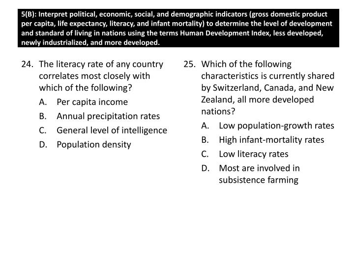 Which of the following characteristics is currently shared by Switzerland, Canada, and New Zealand, all more developed nations?