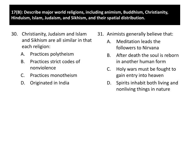 Christianity, Judaism and Islam and Sikhism are all similar in that each