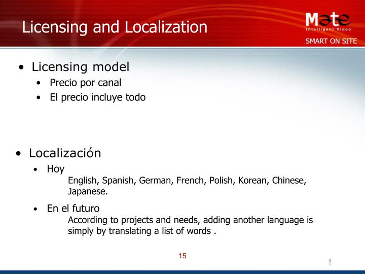 Licensing and Localization