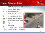 video detecting rules