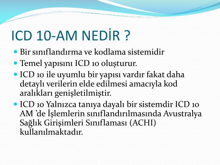 ICD 10-AM NEDİR ?