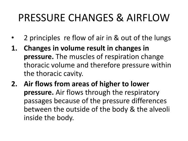 PRESSURE CHANGES & AIRFLOW