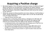 acquiring a positive charge