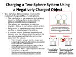 charging a two sphere system using a negatively charged object