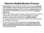 electron redistribution process