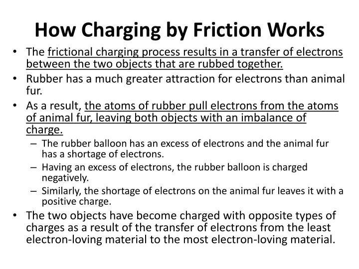 How Charging by Friction Works