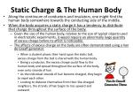 static charge the human body