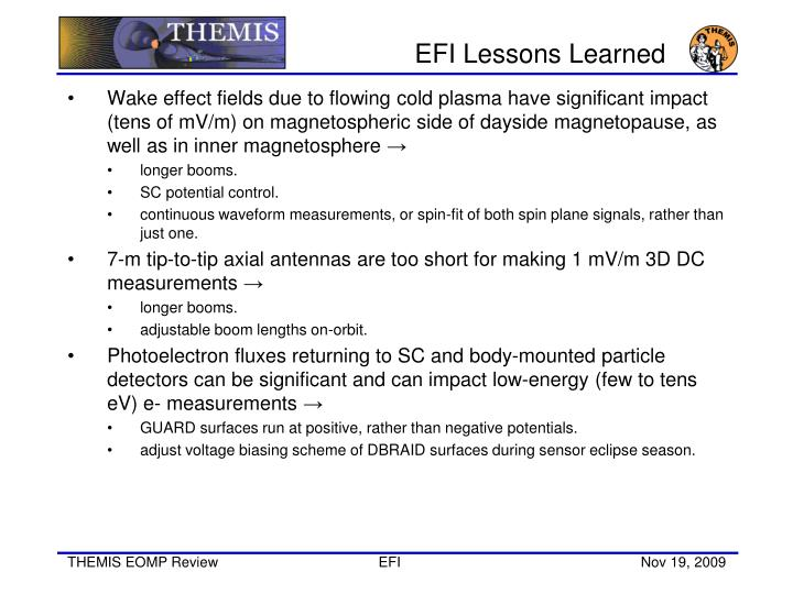 EFI Lessons Learned
