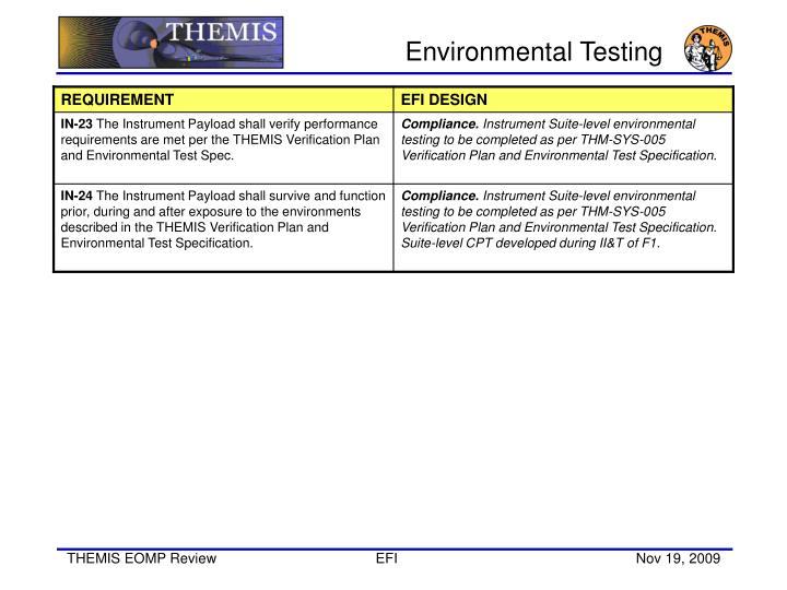 Environmental Testing