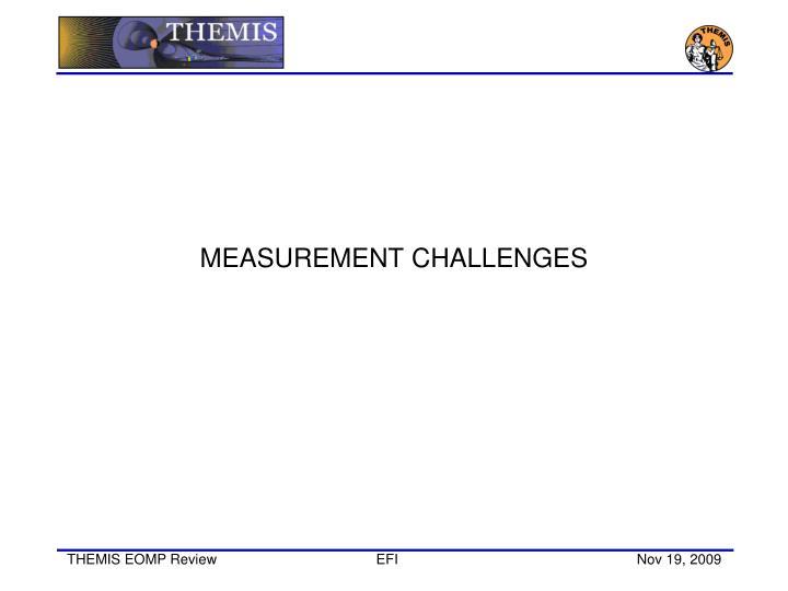 MEASUREMENT CHALLENGES