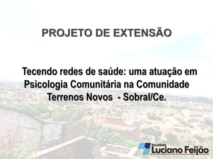 PROJETO DE EXTENSÃO