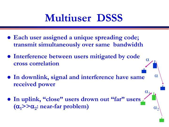 Multiuser  DSSS