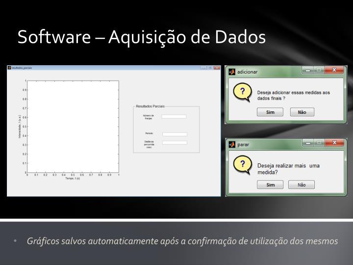 Software – Aquisição de Dados