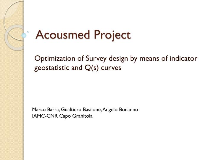 acousmed project